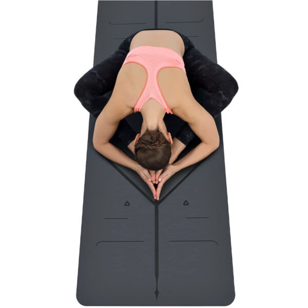 tappetino yoga con sistema allineamento