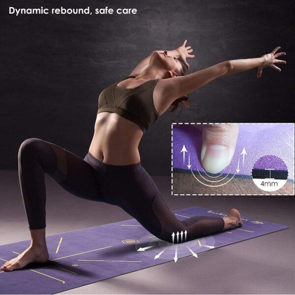 yoga mat microfibra viola