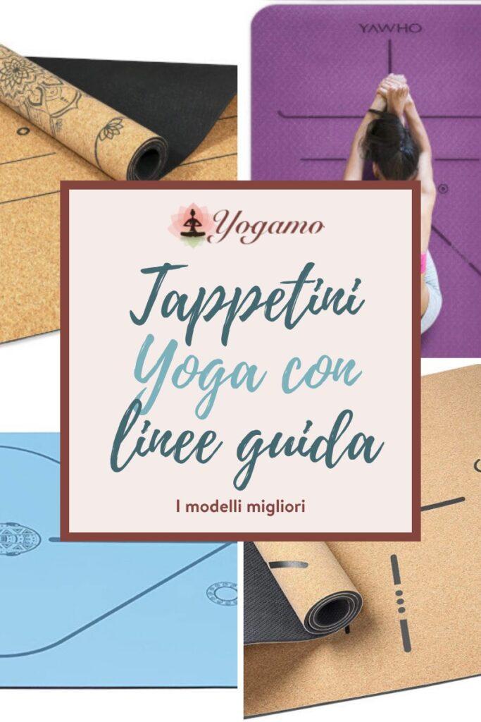 tappetini yoga con allineamento