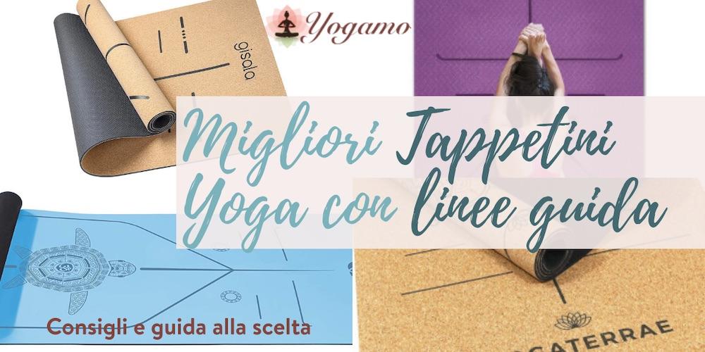 tappetini yoga con linee guida