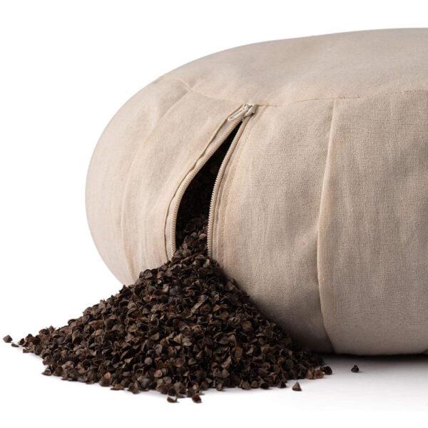 cuscino zafu gusci di grano saraceno basaho