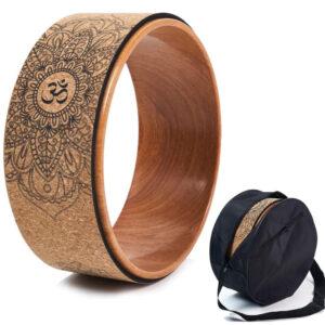 ruota yoga sughero naturale legno yanbingjie