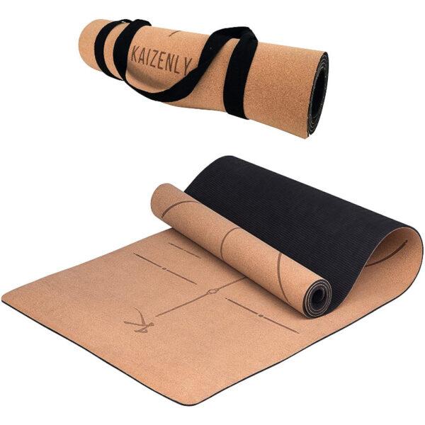 yoga mat in sughero kaizenly